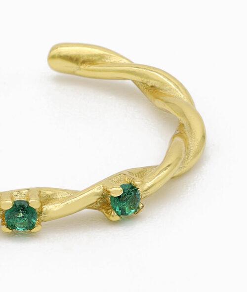 Ring 925er sterling silber größenverstellbar one size ring verstellbar gold grün zirkonia