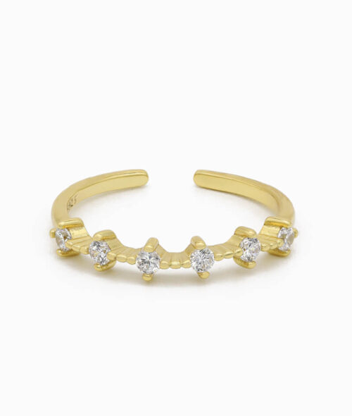 Ring 925er sterling silber größenverstellbar one size ring verstellbar gold zirkonia