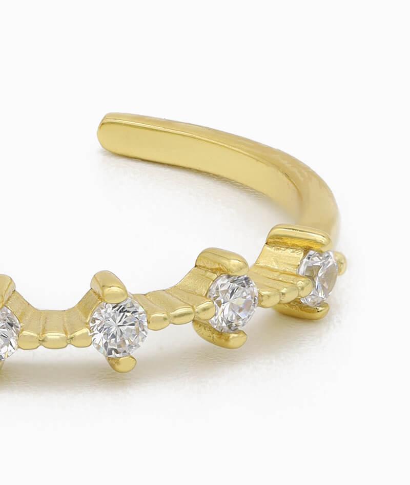 Ring 925er sterling silber größenverstellbar one size ring verstellbar gold zirkonia nah