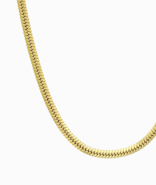 Snake Kette Schlangenmuster Halskette gold ViLou Geschenkidee nah