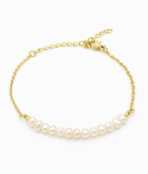 Armband mit Perlen gold Pearls ViLou