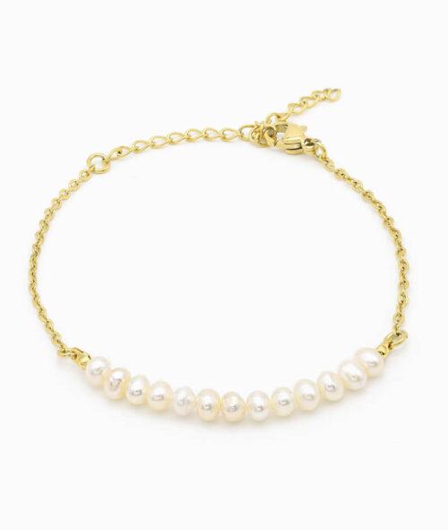 Armband mit Perlen gold Pearls ViLou