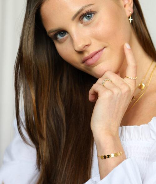 Armband mit runden Plättchen gold und silber | Multi Coin Geschenkidee Freundin Schmuck