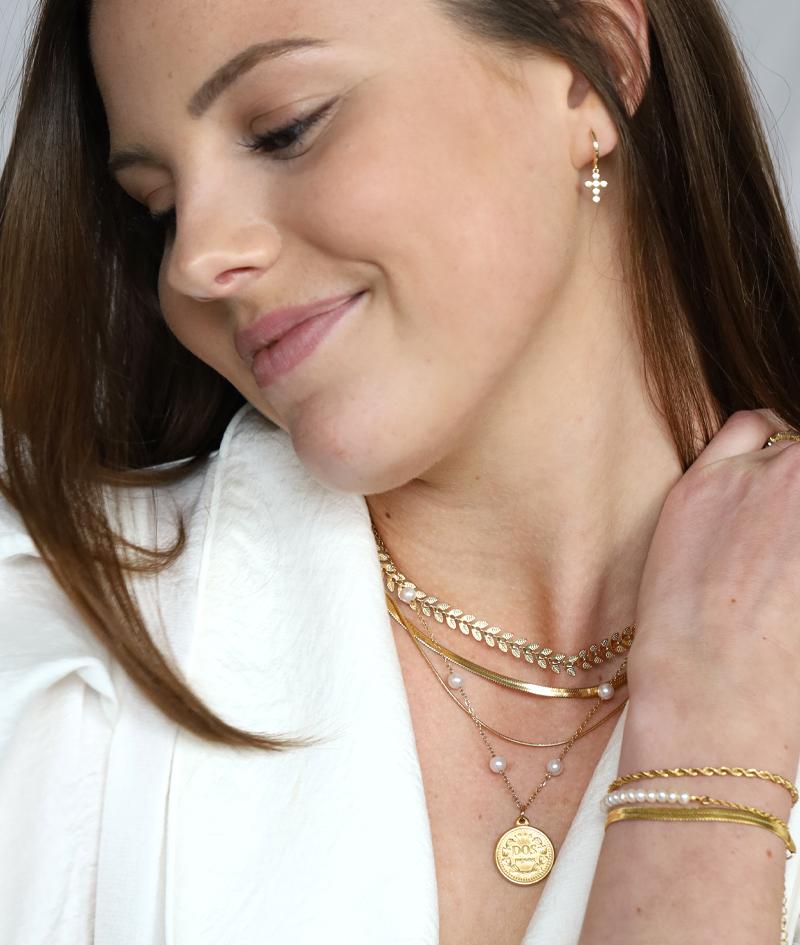 Blätter Kette in gold   Greek Leaf   ViLou offizieller Online Shop Geschenkidee freundin schmuck