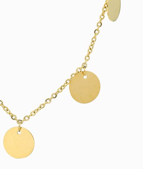 Multi Coin Kette gold Coins Trend Schmuck Ketten Layering Vilou