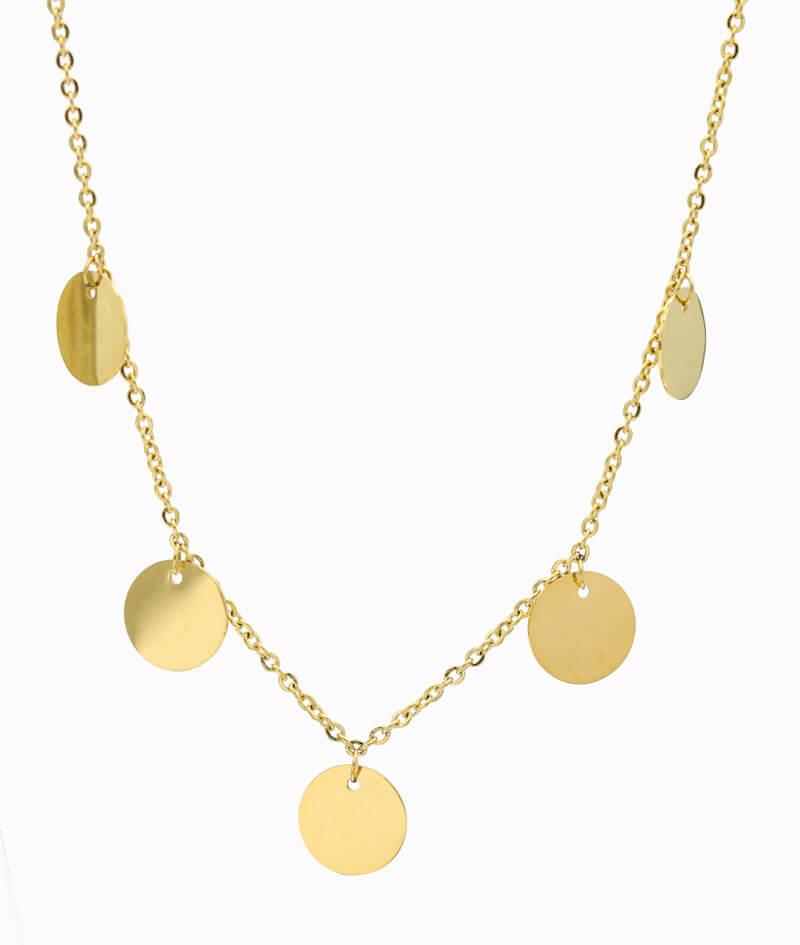 Multi Coin Kette gold Coins Trend Schmuck Ketten Layering Vilou ganz