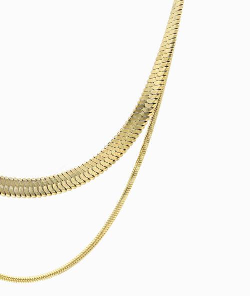 Schlangenkette schlangenmuster snake kette gold ketten leyering vilou nah