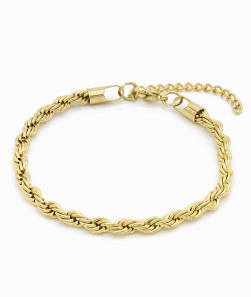 Twisted Armband XL gold verdreht grob ViLou