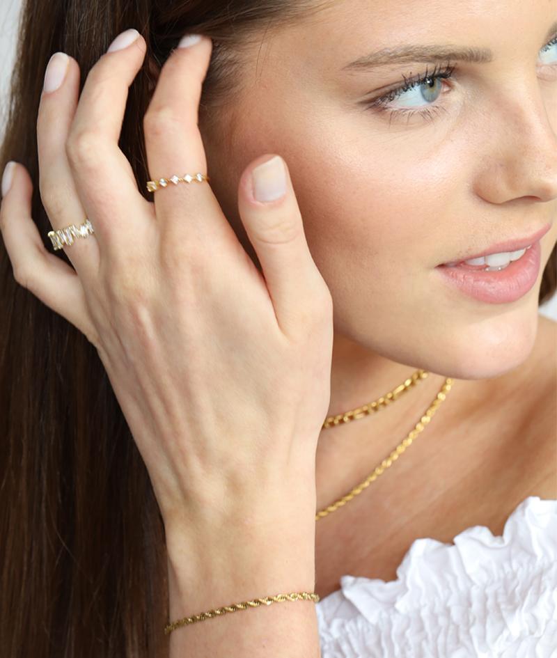 Twisted Armband gold   Pompai - Twisted Geschenkidee Freundin Schmuck