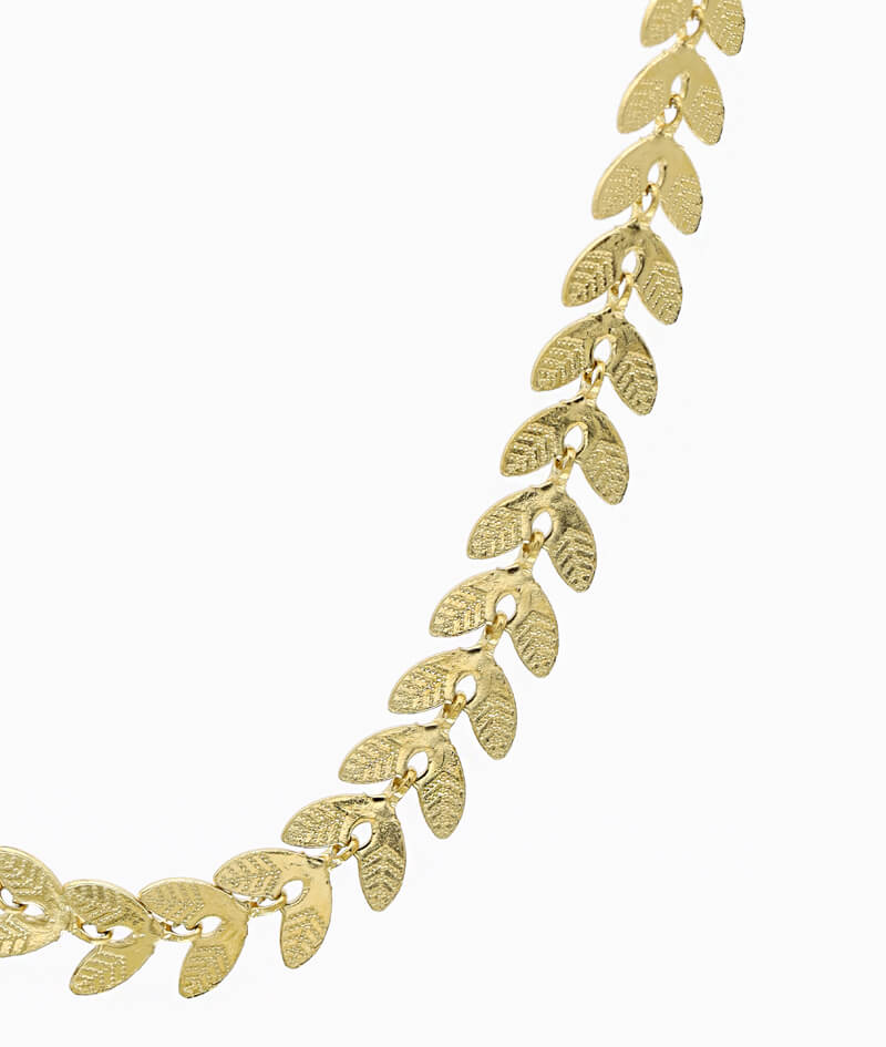 kette blatt herz in gold edelstahl schmuck ketten layering vilou