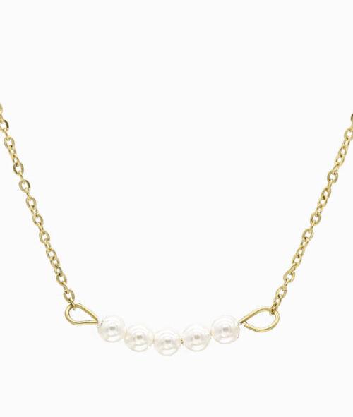 kette choker chokerkette mit glasperlen edelstahl gold ketten layering trend vilou