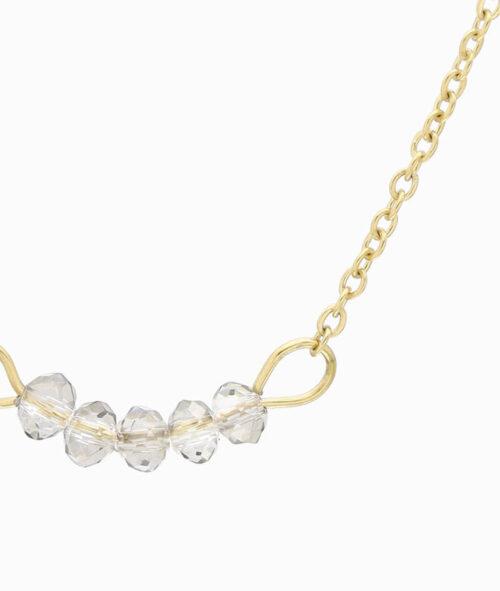 kette choker chokerkette mit glasperlen grau edelstahl gold ketten layering trend vilou