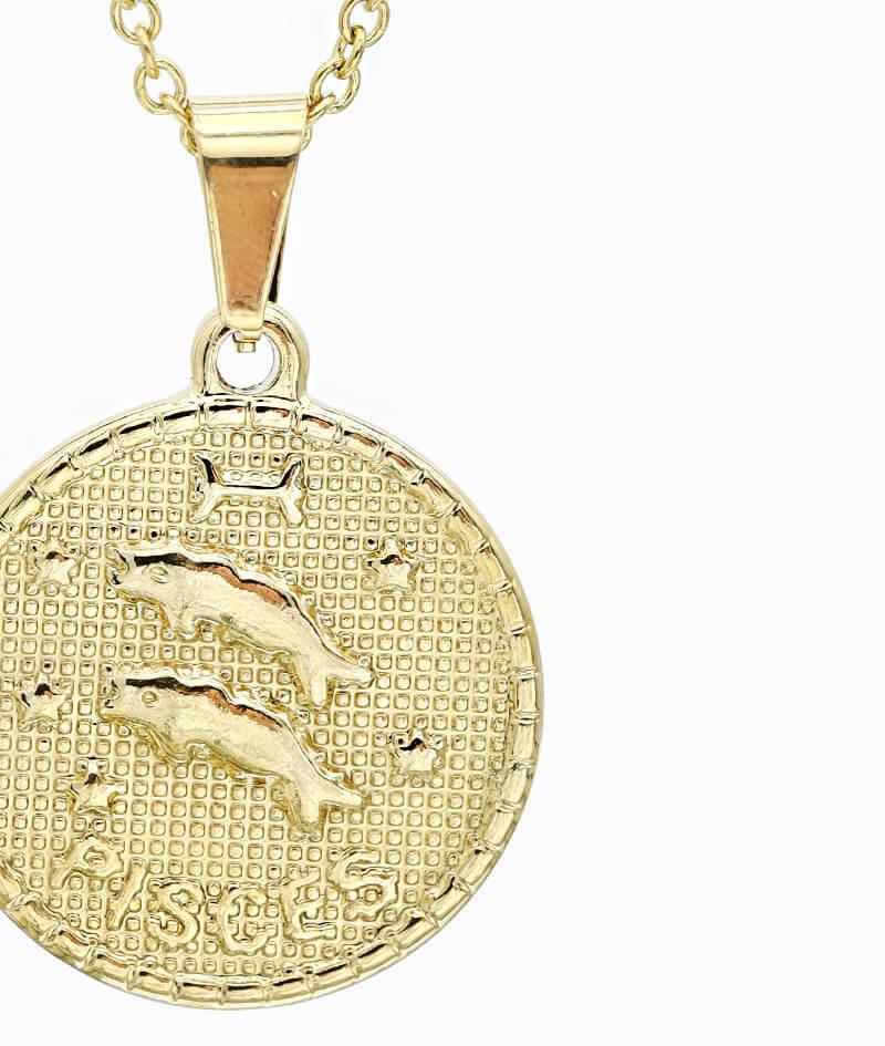 Kette Sternzeichen Fische gold ViLou nah