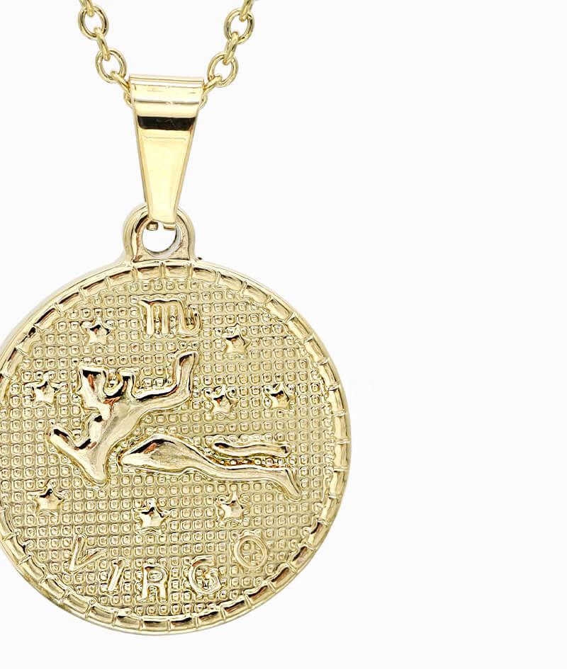Kette Sternzeichen Jungfrau gold ViLou nah