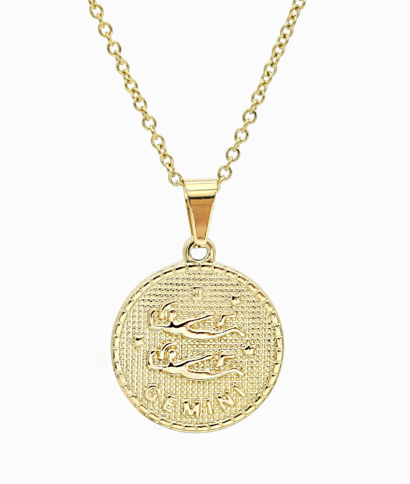 Kette Sternzeichen Zwilling gold ViLou