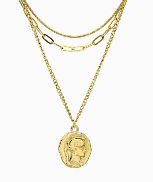Multi Layer Kette gold vergoldet Edelstahl Schmuck Geschenkidee ViLou