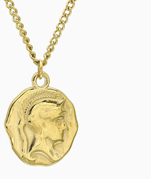 Multi Layer Kette gold vergoldet Edelstahl Schmuck Geschenkidee ViLou Coin Kette Layering