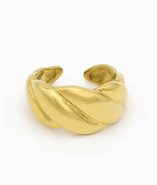 Ring Croissant titanium edelstahl vintage vilou sdchmuck geschenkidee freundin. frau
