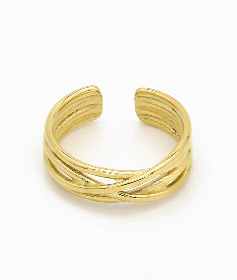 verdrehter ring in gold unordentlich band ring vilou geschenkidee freundin frau schmuck