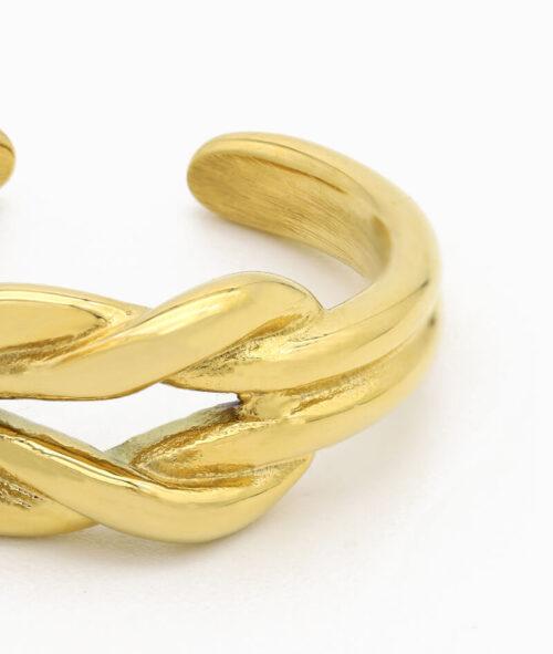 Knoten Ring gold Vilou schmuck geschenkidee freundin frau jahrestag