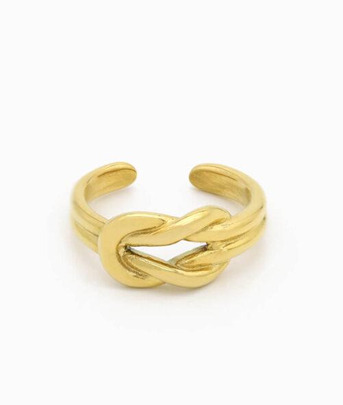 Knoten Ring gold Vilou schmuck geschenkidee freundin frau jahrestag edelstahl