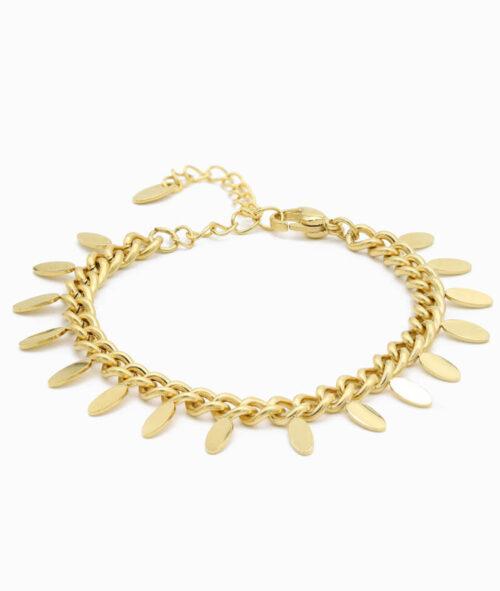 armband mit anhängern coin in gold vilou geschenkidee freundin frau schmuck