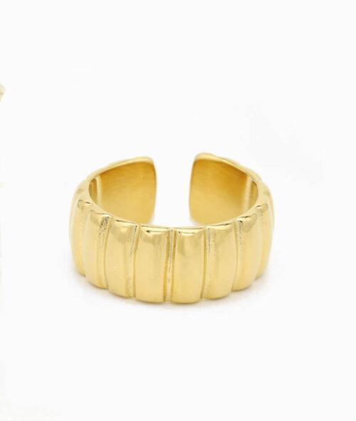 ring gold breiter band ring wasserfest geschenkidee unisex größe vilou
