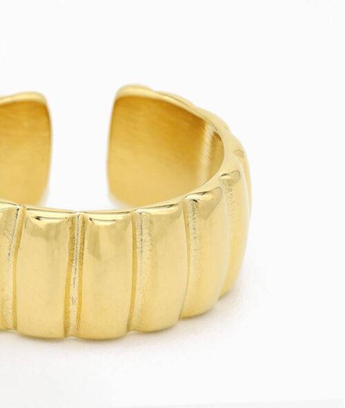 ring gold breiter band ring wasserfest geschenkidee unisex größe vilou nah