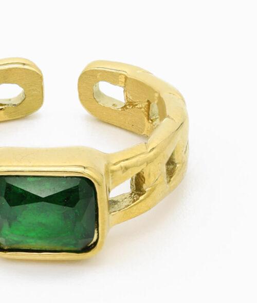 ring mit grünem stein geschenkidee vilou schmuck wasserfest