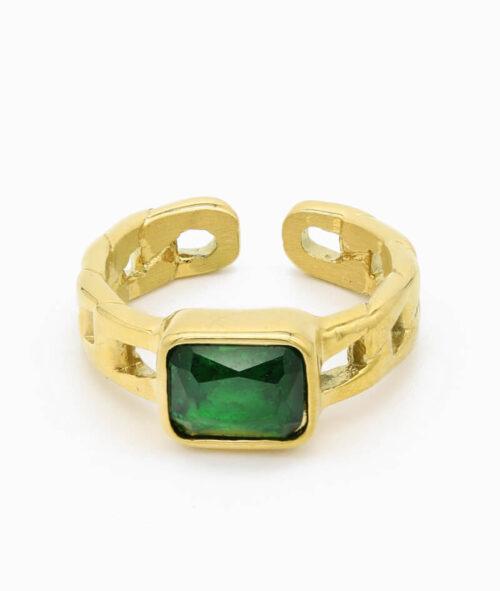 ring mit grünem stein geschenkidee vilou schmuck wasserfest breit
