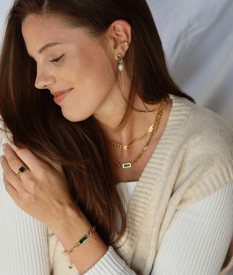 vilou schmuck geschenkidee kette gold perlen ohrring